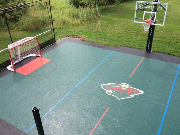 Minnesota game court and basketball court sales and for Build your own basketball court