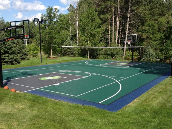 Minnesota game court and basketball court sales and for Personal basketball court