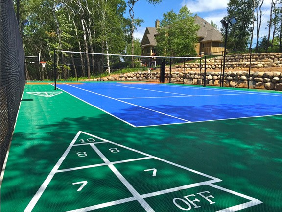 Backyard Game Court Installation Example   MN