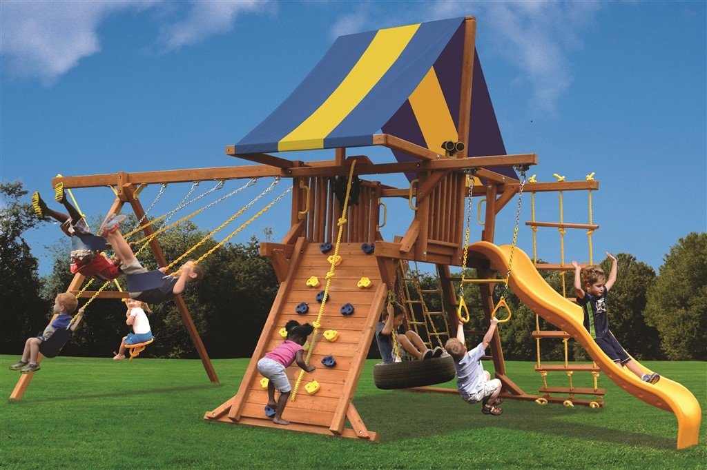Playground One Deluxe Playcenter Swing Set