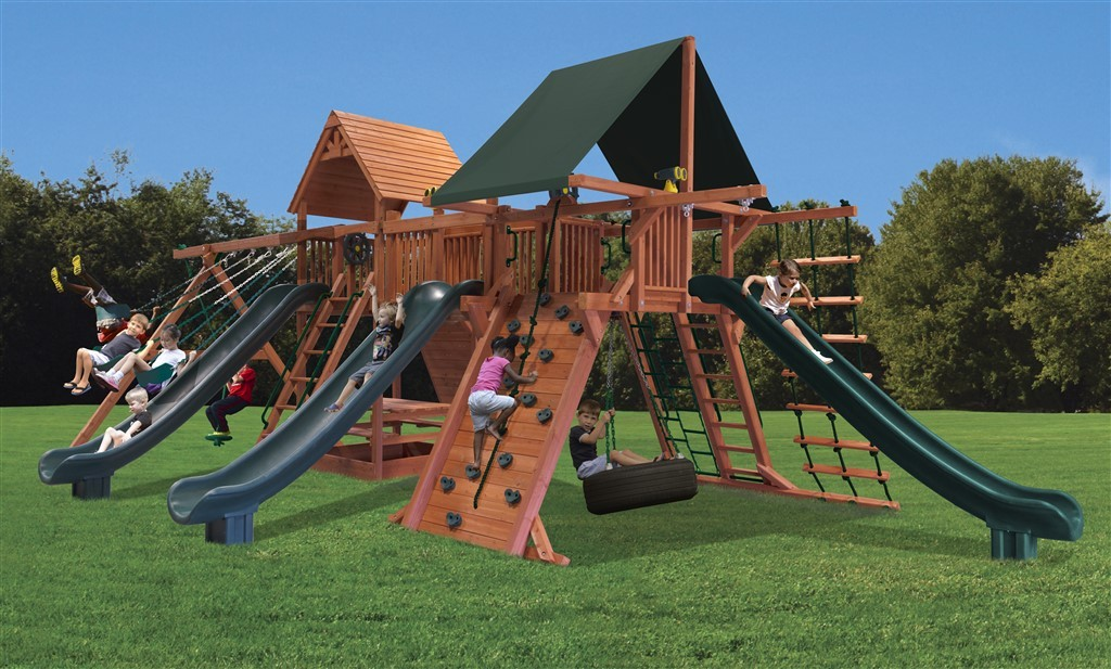 Playground One Supreme Dual Triple Shot Swing Set