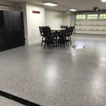 custom garage floor epoxy floor coating installed by Millz House in Credit River_Artisan Home Tour