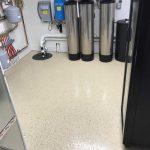 epoxy floor coating installed by Millz House in mechanical room in Credit River