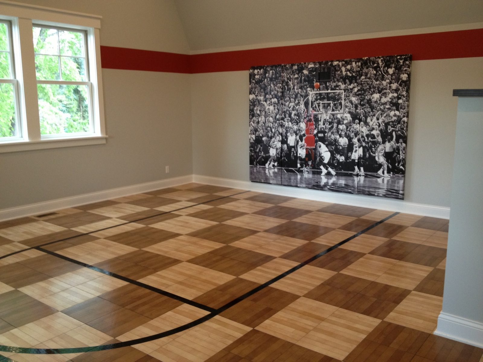 Indoor home gyms courts athletic surfaces millz house snapsports indoor court dailygadgetfo Gallery