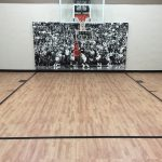 SnapSports Basketball Court With Maple Tiles