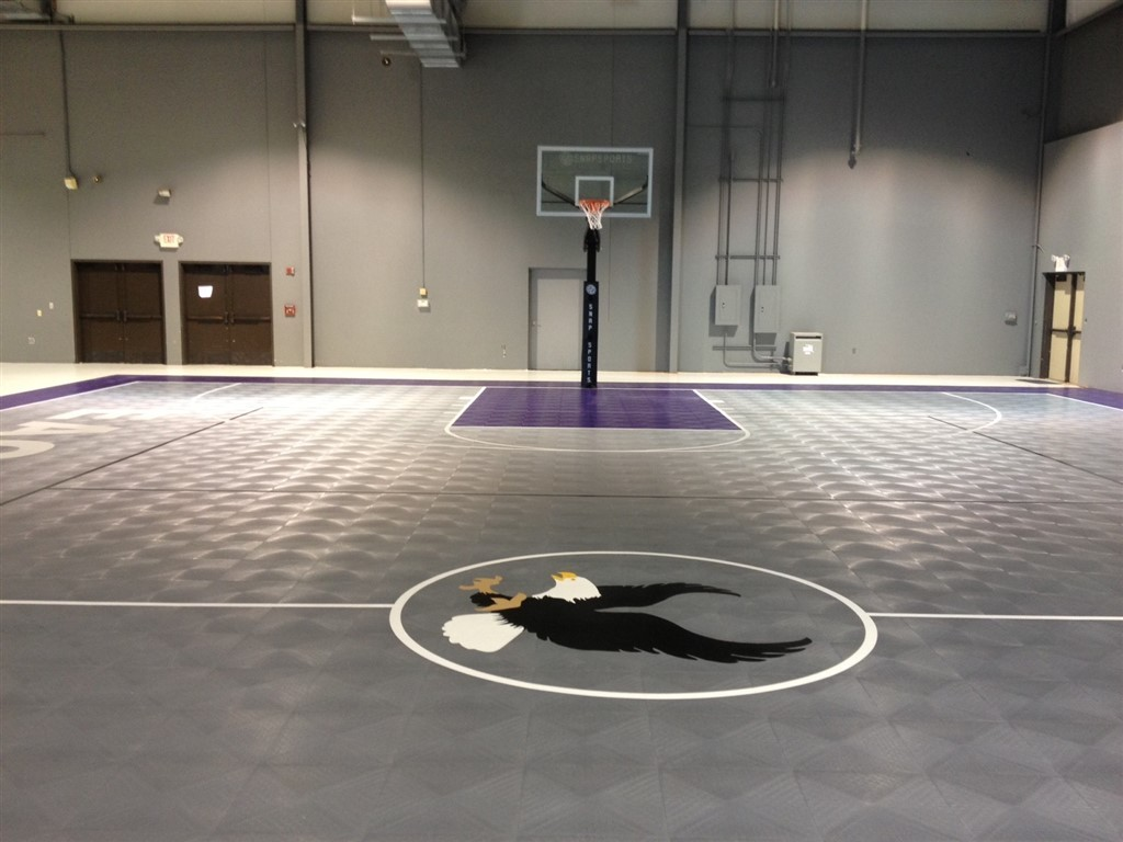 Commercial gyms courts resurfacing construction for Indoor basketball court flooring cost