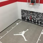 Millz House installed Basketball Court