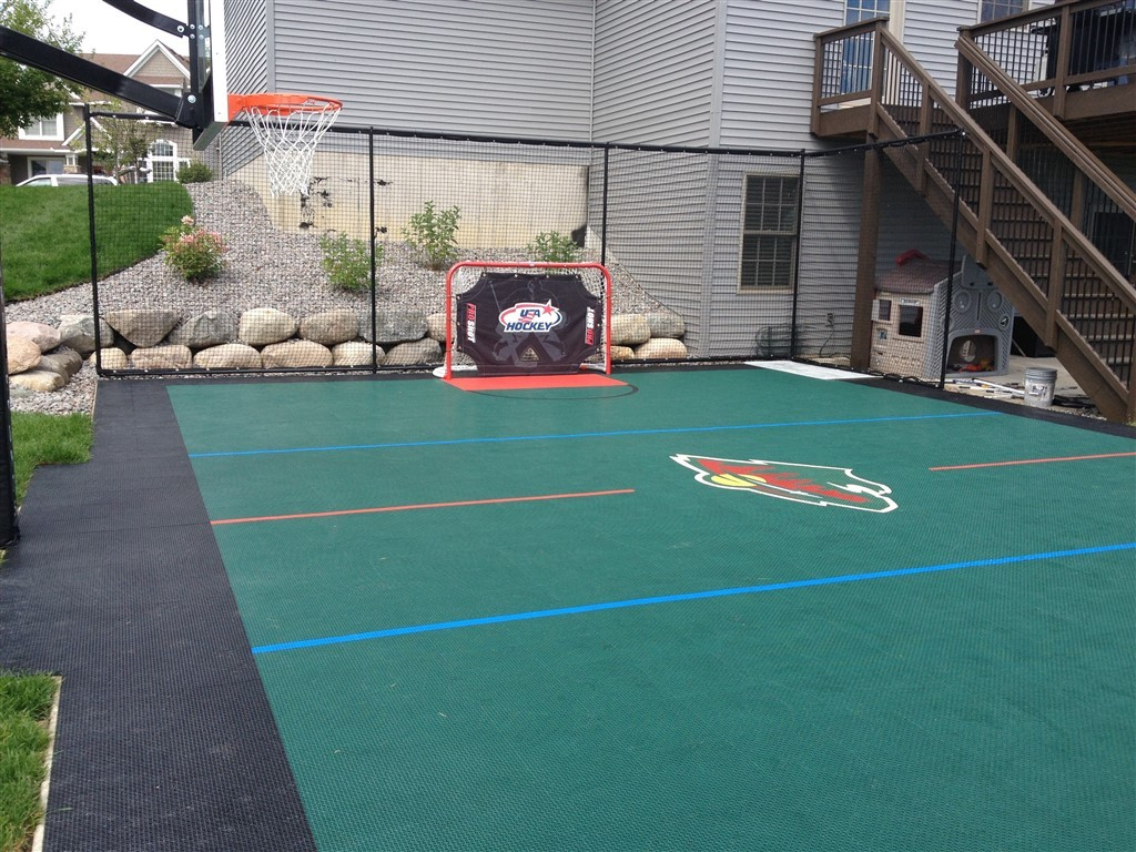 Why a backyard court is more popular than a backyard pool for Backyard sport court