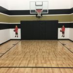 Millz House installed indoor basketball court using SnapSports athletic tiles