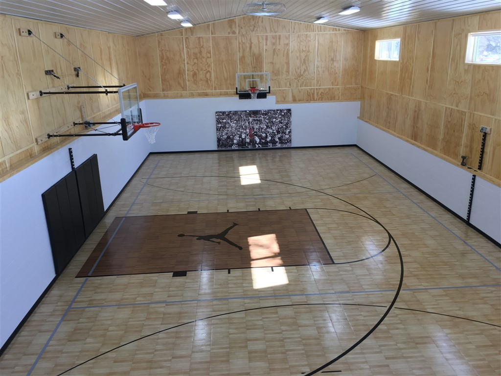 Indoor home gyms courts athletic surfaces millz house