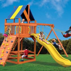 Fort Style Wooden Swing Sets - Millz House Apple Valley