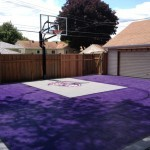 Professional personal basketball court installation example