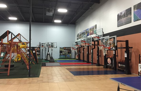 Full line of premium basketball hoops