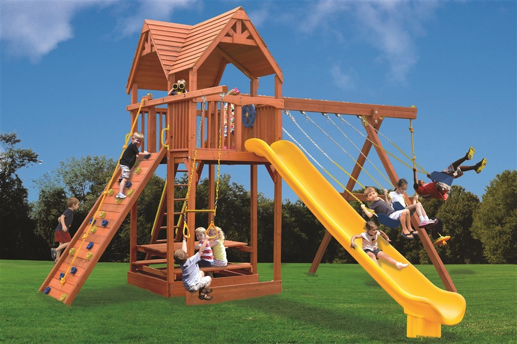 Playground One Extreme Fort Swing Set