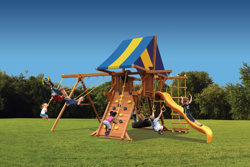 Deluxe Playcenter Swing Set