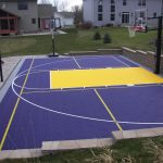 Outdoor Basketball Court with SnapSports Athletic Tiles