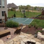 SnapSports Backyard Basketball Court