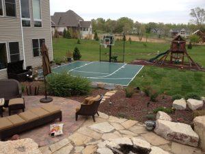 SnapSports Backyard Basketball Court