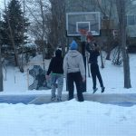 Winter fun on SnapSports outdoor game court