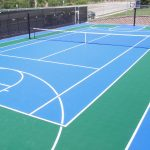 SnapSportscommercial tennis court in Prior Lake