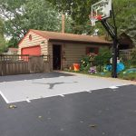 South Minneapolis game court constructed by Millz House with SnapSports athletic tiles