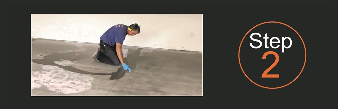 Millz House Floor Coating Process Step 2 Repair Concrete