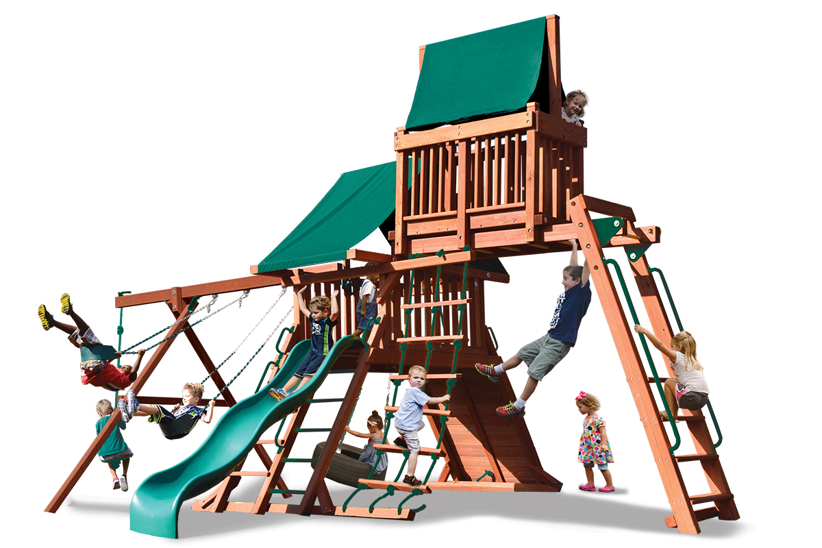 Original Playcenter Combo 4 play set with monkey bars and sky loft