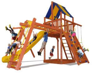 Supreme Fort Combo 3 play set with monkey bars