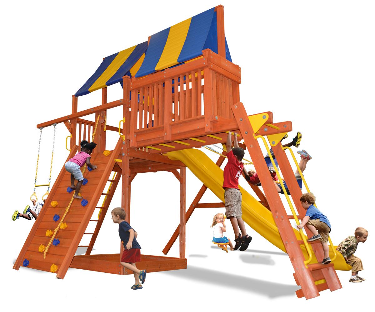 Supreme Fort Combo 4 play set with monkey bars and skyloft