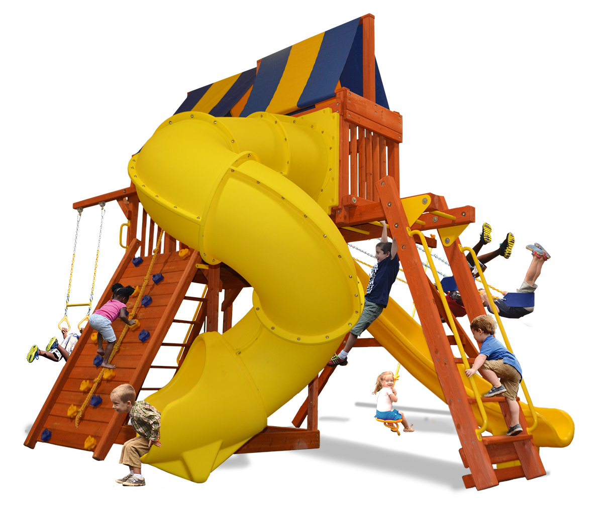 Supreme Fort Combo 5 play set with monkey bars, skyloft and corkscrew slide