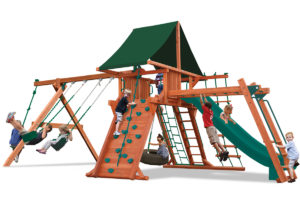 Supreme Playcenter Combo 3 swing set with monkey bars