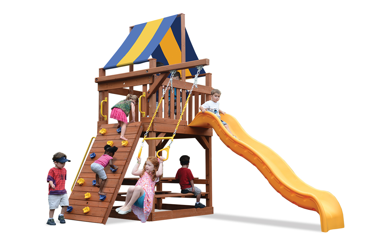 Original Fort Jr. play set is ideal for a tight space