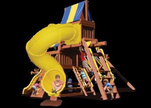 Original Fort Combo 5 includes monkey bars, sky loft, and extreme corkscrew slide