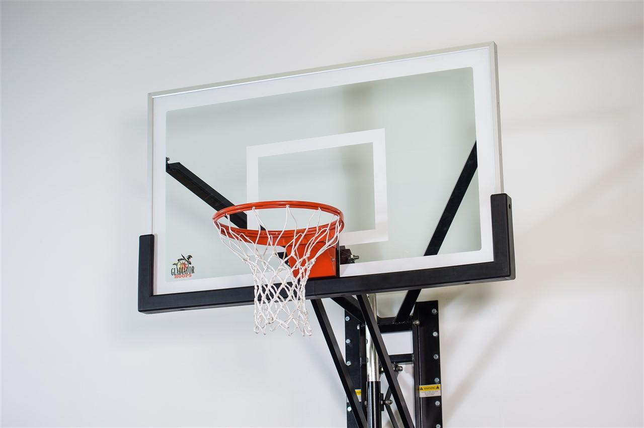 Gladiator Hoops wall mount adjustable basketball hoop