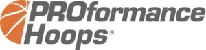 logo for Proformance basketball hoops