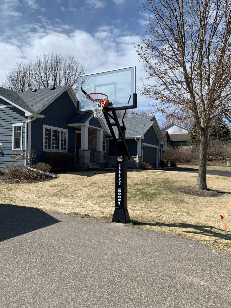 "Gladiator 60"" In-ground basketball hoop"