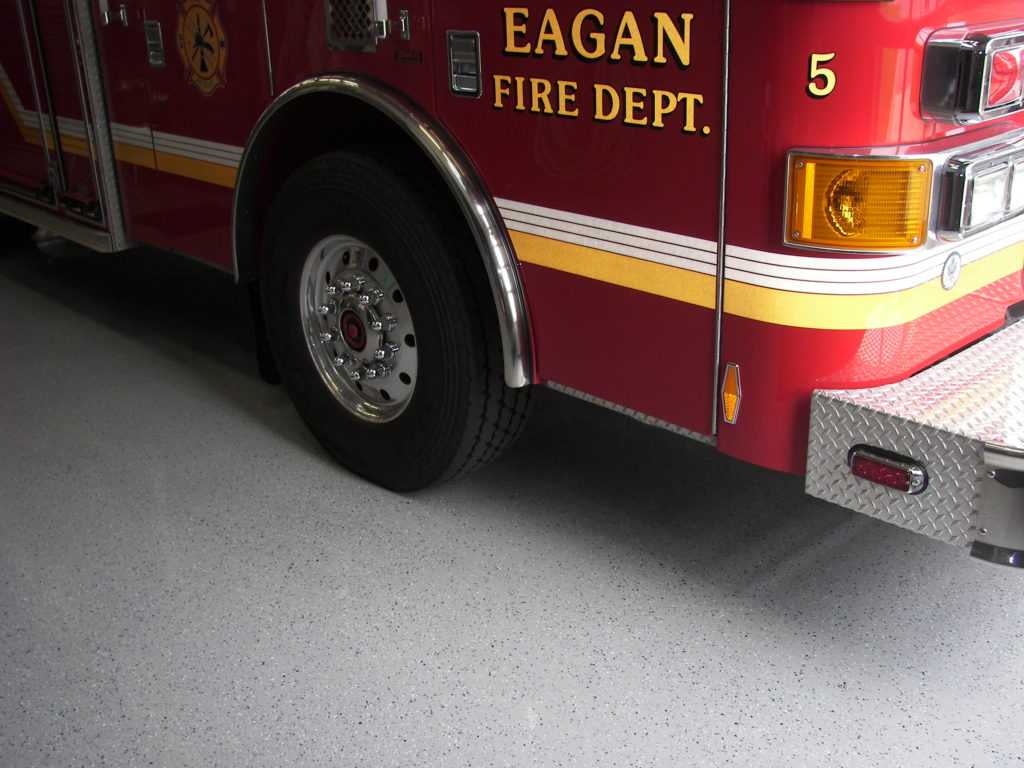 Fire station epoxy floor coating
