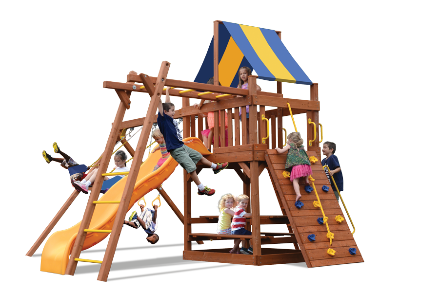 Original Fort Play Set with Monkey Bars