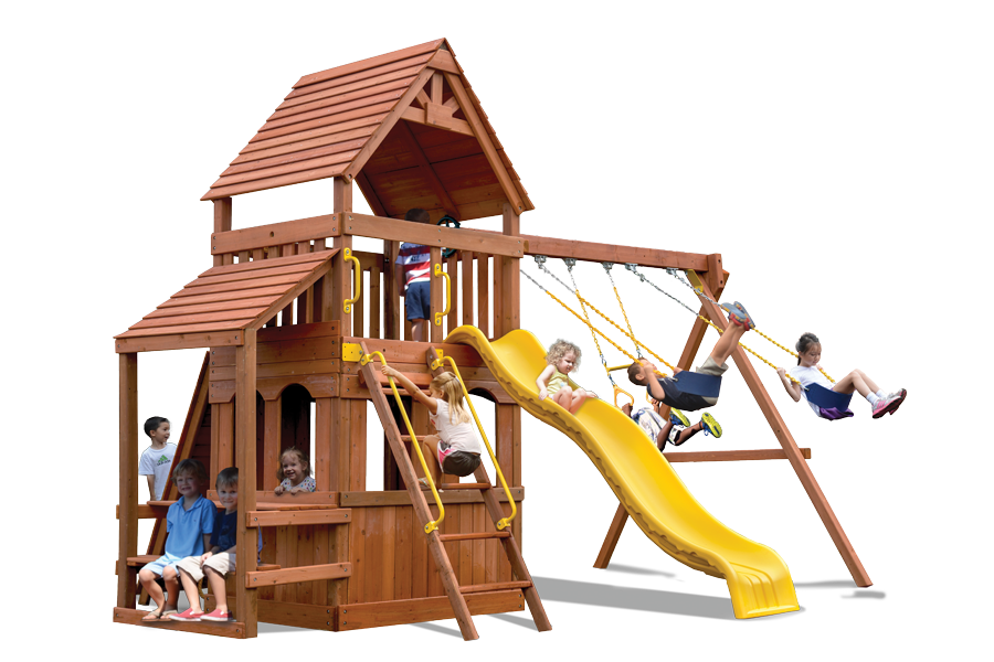 Original Fort Hangout Play Set with Cafe Table and Lower Level Playhouse