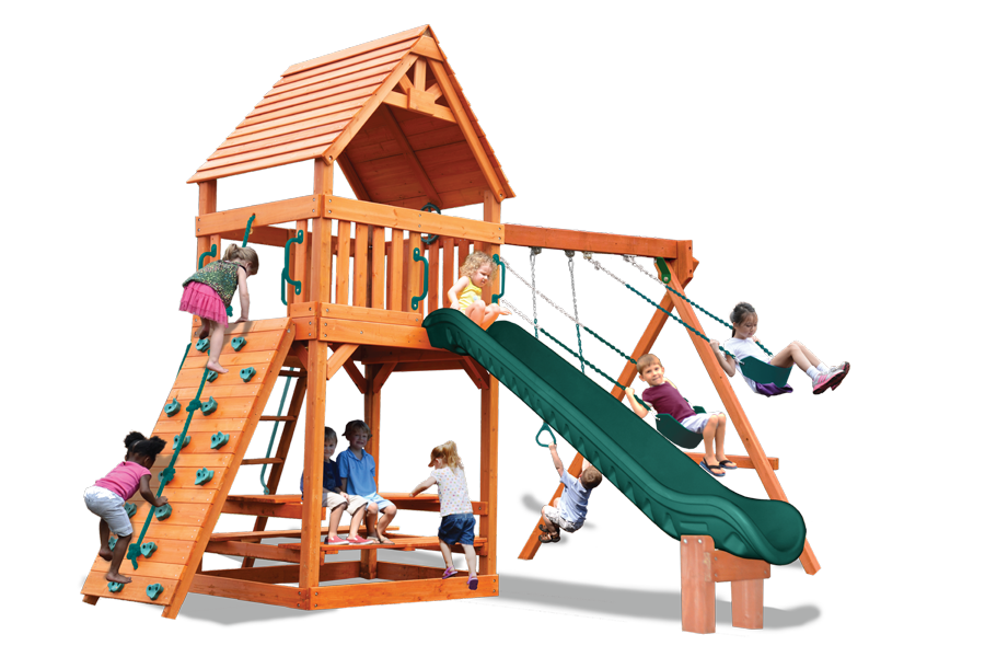 Turbo Original Fort Play Set with Wood Roof