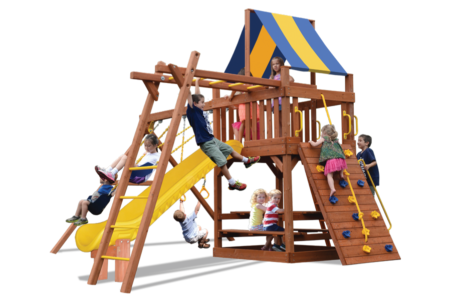 Turbo Original Fort Play Set with Monkey Bars