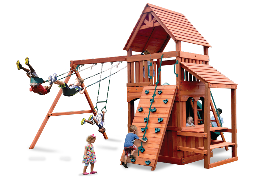 Turbo Original Fort Hangout Play Set with Cafe Table and Lower Level Playhouse